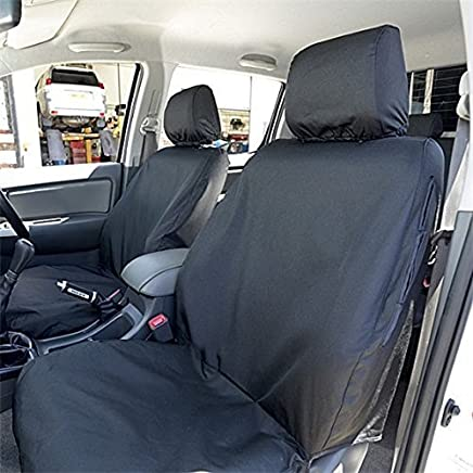 Custom Covers SC139B Tailored Heavy Duty Waterproof Front Seat Covers Black