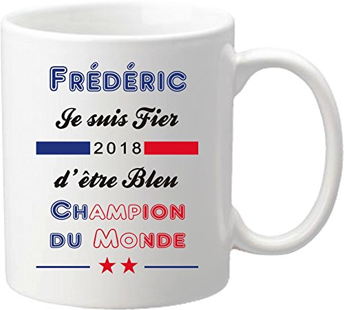 Mug Coupe du Monde de Football 2018 - France Champions du Monde 2018 - offrez vous ce mug personnalisé de l'équipe de France de football - maillot Mug-2018-D