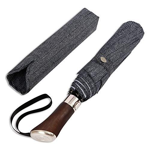 Balios ,  Taschenschirm Schwarz Herringbone M