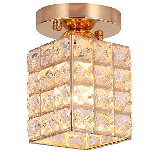 Kristall Deckenleuchte,Deckenlampe,LED Kronleuchter,Durchmesser 10cm für Schlafzimmer,Esszimmer,die Küche (Platz)