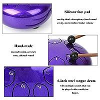 ミュージシャンのための寺院のための実用的な舌ドラムハンドドラム(purple)