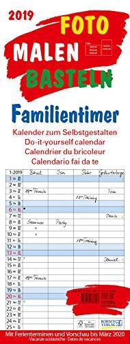 FMB Familientimer 19 x 50 268419 2019: Familienplaner mit 4 Spalten als Foto-kalender zum Selbstgestalten. Familienkalender mit Ferienterminen und festem Batelpapier.