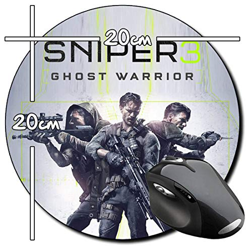 Sniper Ghost Warrior 3 Tappetino per Mouse Tondo Round Mousepad PC