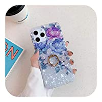 Yokkg ドリームシェルリングホルダー電話ケースFor iPhone12 Pro 11 Pro Max XR XS Max X 7 8 Plus SE 2 11Pro 12Mini Vintage Flower Back Cover-T4-For iPhone 12 Pro