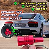 CHAOLUAN 2 Pcs Multi-Purpose Car Turbo Whistle,Turbo Sounder Maker, Exhaust Pipe Roar Simulator,Aluminum Turbo Sound Whistle Exhaust Pipe Tailpipe BOV Blow-Off Valve Simulator (Red, L)