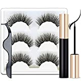 Magnetic Eyeliner and Magnetic Eyelashes. Magnetic Eyeliner for Magnetic Lashes Set,Easy to Wear,With Reusable Lashes (3 Pairs)