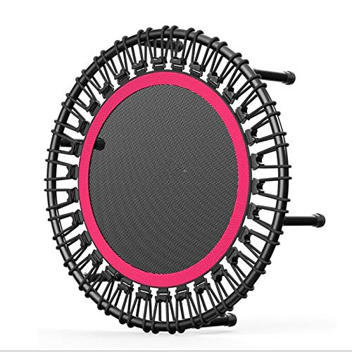 J 40-Inch Foldable Mini Trampoline, Hexagonal Stability, Strong Load-Bearing Capacity, Suitable for Children, Adults, Gym, Indoor, Garden, Black And Red