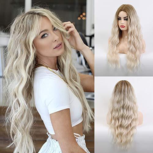 comprar pelucas mujer rubia larga en internet