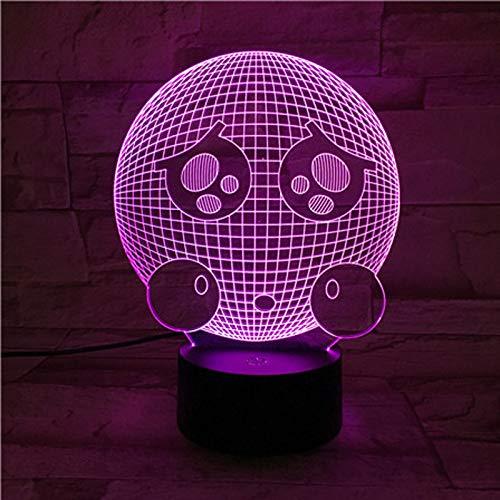 Emoji facial Luz de Nocturna LED,3D Lámpara,