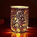 TTAototech Elektrische Duftlampe aus Glas, Duftwachs, 3D-Feuerwerk-Aroma, Nachtlicht, Dekoration, erstaunliche Düfte, um Ihr Zuhause zu füllen, interessantes Muster, Aromalampe