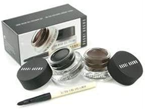 Bobbi Brown Long Wear Gel Eyeliner Duo: 2x Gel Eyeliner 3g (#black Ink #sepia Ink) + Mini Ultra Fine Eye Liner Brush -