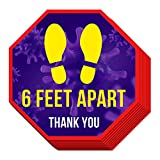 """12 Pk 12"""" High-Grade Social Distancing Floor Decals 