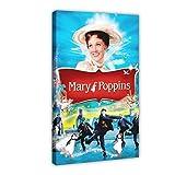 Canción y danza Fantasía película Mary Poppins 1 póster de lona para decoración de pared para dormitorio de estar marco: 60 x 90 cm