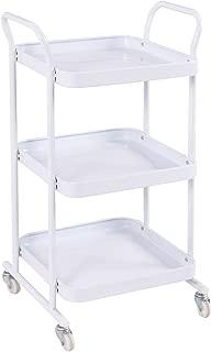 Giantex 3-Tier Rolling Kitchen Trolley Cart Steel Island Storage Utility Service Dining (3-Tier)