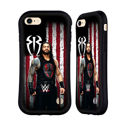 Head Case Designs Officially Licensed by WWE Roman Reigns American Flag Superstars Hybrid Case Compatible with Apple iPhone 7 / iPhone 8 / iPhone SE 2020