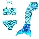 Dressy Daisy Girls Mermaid Bathing Suit Swimwear Swimsuit Swimming Bikini 3pcs Set Size 8 Blue