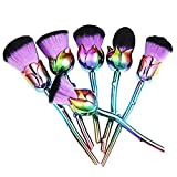 sahnah Makeup Brushes Set Flower Unique Rose Foundation Blending Contour Cream Cosmetic Kit Professional Tools 6 Rose Makeup Brushes