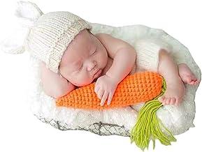 puseky 3pcs Newborn Baby Boy Girls Cap + Shorts + Zanahoria Foto de juguete Fotografía Prop Conjuntos Conjunto