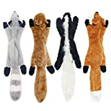HUILI No Stuffing Dog Squeaky Toys, Pet Plush Durable Chew Sound Squeaker Toys Fun Interactive Puppy Teething Puzzle Toy Gift para Perros pequeños a Grandes 4 Pack