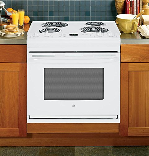 GE JDS28DFWW 30' White Drop-In Electric Coil Range
