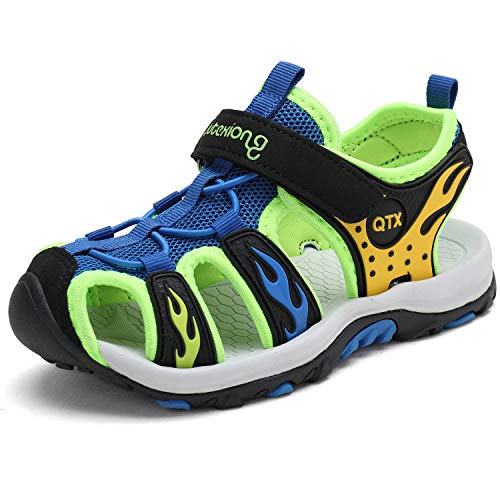 JIANKE Sandalias para niño Deportivas Zapatillas Trekking Zapatos de Playa Azul 27 EU