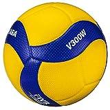 MIKASA V300W - Balón de Voleibol, Color Azul, Talla 5