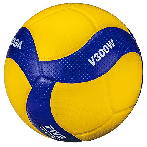 Mikasa Volleyball No. 5 International Certified Ball, Certification Ball, General College, High School Yellow/Blue V300W Recommended Inner Pressure 0.3 kgf/)