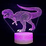 ESZH 3D Illusion Lampada Luce Notte Bambini Comodino Telecomando Il Controllo 7 Colori Selezionabil...