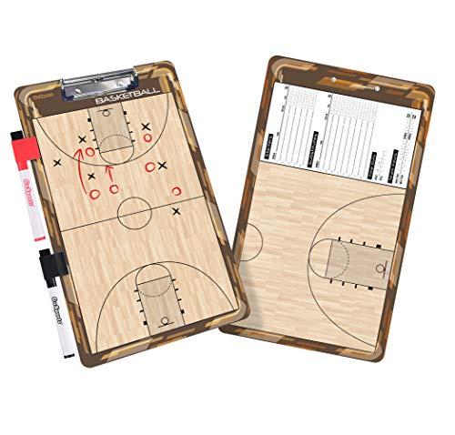 GoSports Basketball Dry Erase Coaches Board with 2 Dry Erase Pens