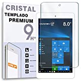 REY Protector de Pantalla para Tablet CHUWI Hi8 Air Pro 8', Cristal Vidrio Templado Premium