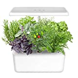 Indoor Gardening Kit Hydroponics Growing System Kit w/LED Plant Grow Light for 7 Plants,Hydroponics Indoor Home Gardening Kit Herb Seed Pod Kit w/Nutrients,Seeds Not Included.IDEER LIFE. (White18803)
