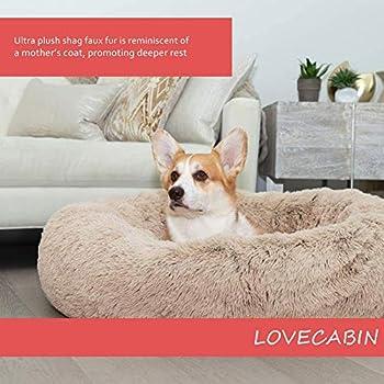 Puppy Love Panier Chien, Coussin Chien Anti Stress XXXL Dehoussable, Paniers Et Mobilier pour Chiens, Orthopedique Lit Apaisant Comfy pour Chien, Améliorer Le SommeilBrown-70cm