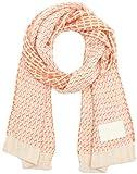 Tommy Hilfiger J Mary Heavy Knit Scarf Bufanda, Multicolor (Soft Pink/powder White/wild Orange), Talla única para Mujer