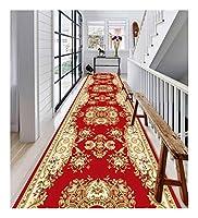 CnCnCn 入り口のホームカーペットアイル回廊カーペットエントランスノンスリップ (Color : Red, Size : 80x540cm)