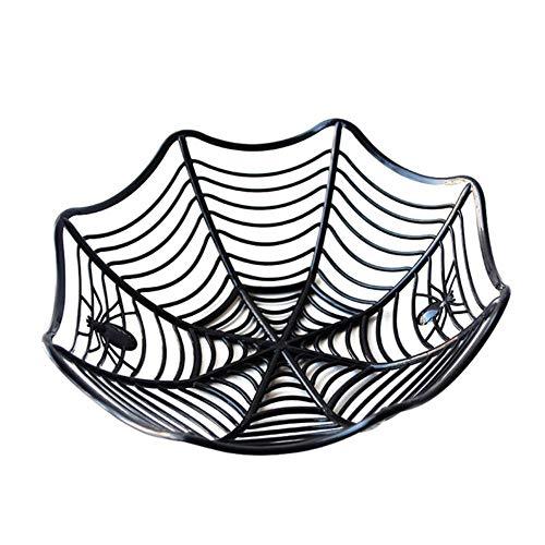 CTOBB 1pcs Halloween Black Spider Web-Frucht-Süßigkeit Teller Kinder Süßes oder Saures Biscuit Basket Bowl Halloween-Party-Bars Dekoration Requisiten, Farbe, Stil 1