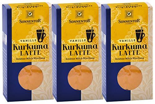 Sonnentor Bio Gewürzmischung Kurkuma Latte Vanielle, (3 x 60g im Karton)