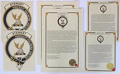 Kiddie of Clan Munro - Scottish Last Name History and Clan Crest Print Set (2 Pack)