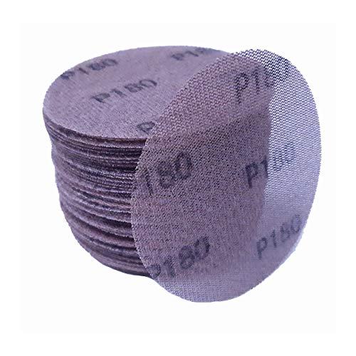 IHS® Gitterleinen Schleifscheiben Schleifgitter Set 50 Stück Schleif-Papier Scheiben Durchmesser 125 oder Durchmesser 150 mm Klett Körnung K80 ? K400