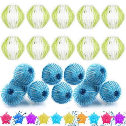 mengger Washing Ball 40 Pezzi Lint di Lavaggio Palla Rimozione Palline da bucato Riutilizzabile Cattura peli Lavatrice Sfere per bucato Pulizia Animali/Vestiti/Biancheria da Letto