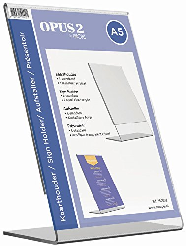 OPUS 2 350002-Tischaufsteller schräg, L-Ständer