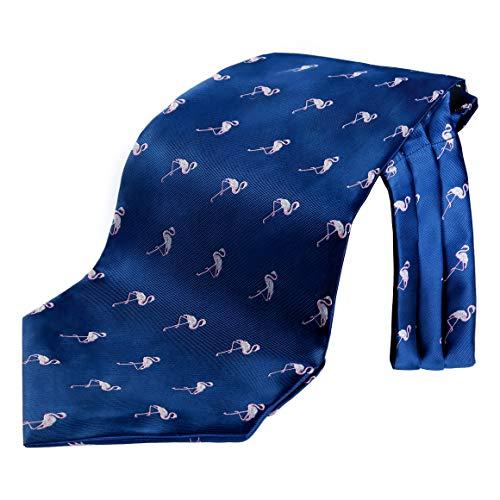 Enlision Herren Krawattenschal Flamingo Hochzeit Ascot Krawatte Geschaft Valentinstag weiß navy blau