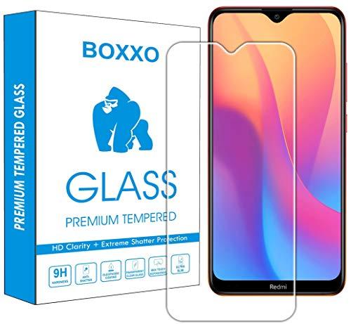 Boxxo Screen Protector for Mi Redmi 8A [Tempered Glass Guard] [Gorilla] Easy Installation [Anti FingerPrint]