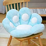 Tengke Cojín de juguete de peluche, cojín de ventana flotante de pata de oso de dibujos animados, cojín de piso, cojín de cesta colgante (azul, 80 x 70 cm)