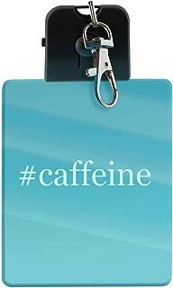 #caffeine - Hashtag LED Key Chain with Easy Clasp