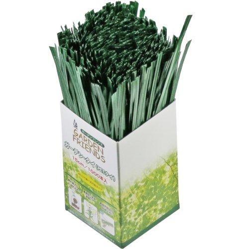 ガーデンフレンズ ガーデンタイ 1000本 緑色 15cm