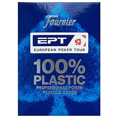 Copag European Poker Tour (EPT) 100% Plastic Playing Cards Poker Size Jumbo Index (Blue Back)