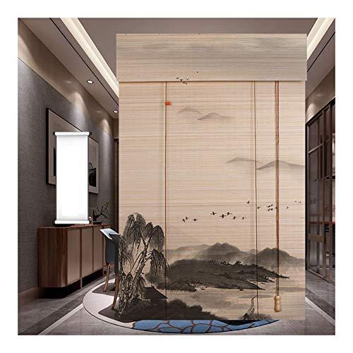 CHAXIA Bamboe Rolgordijn Rolluiken Home Achtergrond Decoratie Tea Room Partitie Meerdere maten, Aanpasbaar