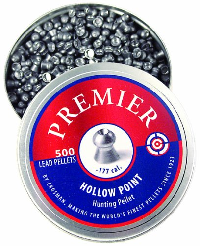 Crosman Premier .177 Cal. Hollow Point Pellets, 500ct, LHP77