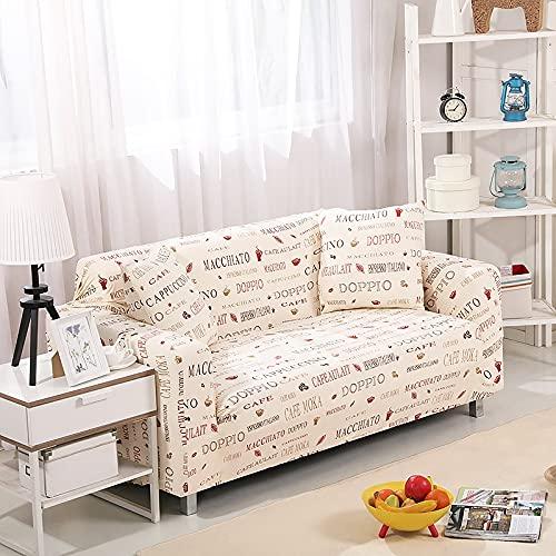 WXQY Funda de sofá con Estampado Floral para Sala de Estar Funda de sofá Envuelta herméticamente Funda de protección Antideslizante para Mascotas, Funda de sofá de Esquina A21 2 plazas
