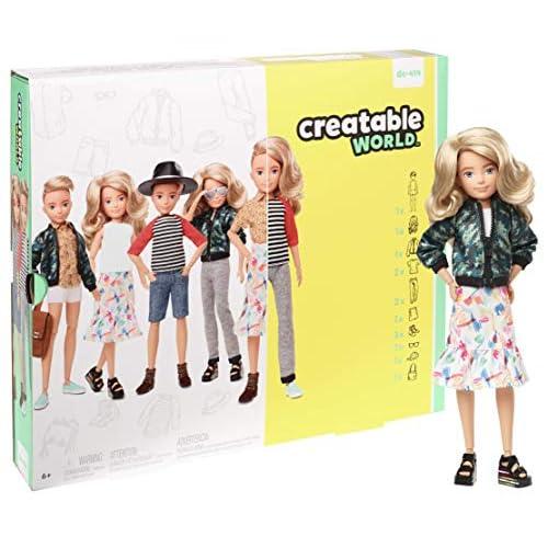 Creatable World - Kit Deluxe, Bambola con Accessori, DC-414, GGT67